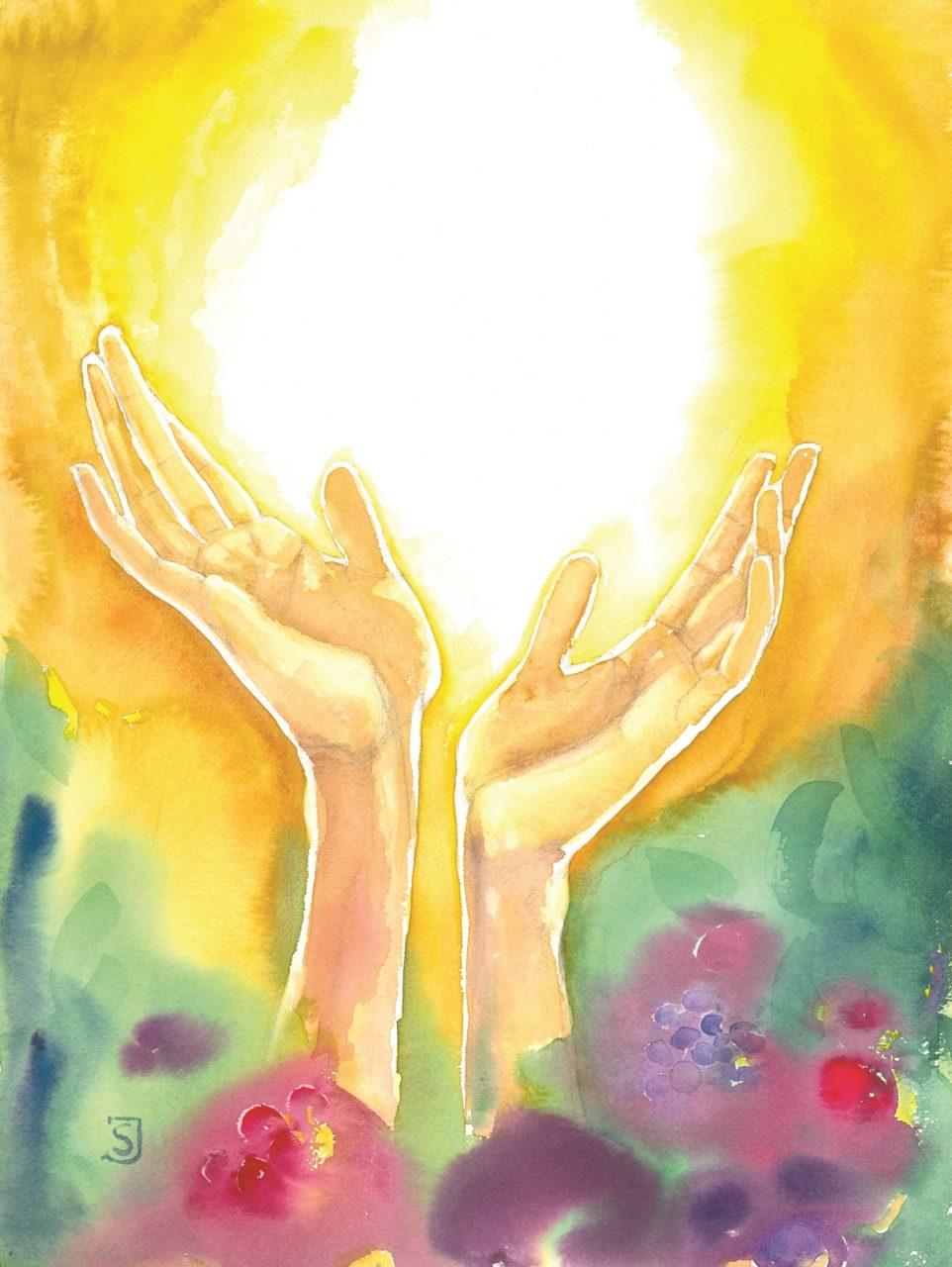 Hände im Licht