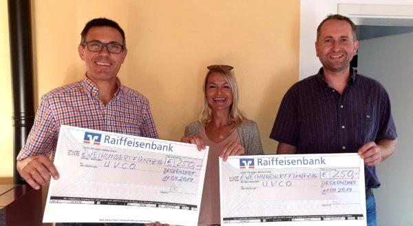 Spende OGV und FFW Degerndorf