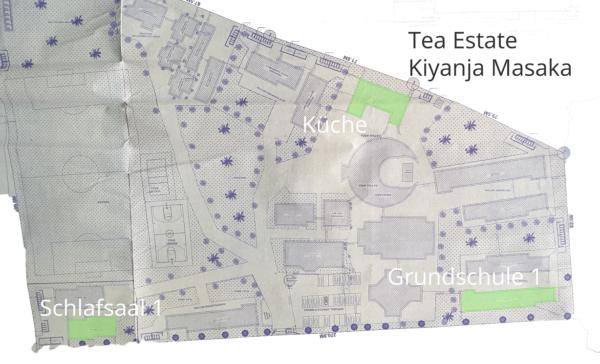 Bauplan Grundschule mit Schlafsaal und Küche